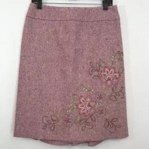 Classiques Entier Floral Embroidered Skirt Sz 6